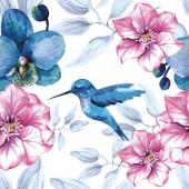 """Салфетка для декупажа """"Калибри и цветы"""" бумажная SDOG013501, 33х33 см"""