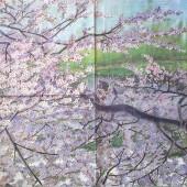 """Салфетка для декупажа """"Весеннее цветение"""" бумажная, 33х33 см, на фото целая салфетка, ADS20180309"""