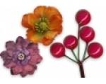 Цветы, листья и ягоды искусственные