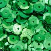 "Пайетки EFCO круглые ""Чашечки"" зелёные, 6 мм, пластик, 4000 шт., арт. 1026867"