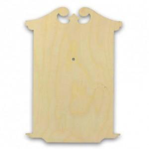 """Заготовка для часов деревянная фигурная """"Классика 1"""", КСФ-54-06-43, фанера 6 мм, 43х30,5 см"""