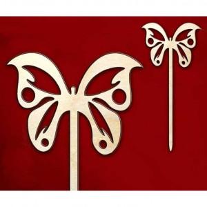 """Для украшения на шпажке """"Бабочка-2"""", арт. 141298, 1 шт., 10х21 см"""