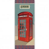 """Бумага рисовая для декупажа Stamperia DFS211L """"Красная телефонная будка, Лондон"""", 24х60 см"""
