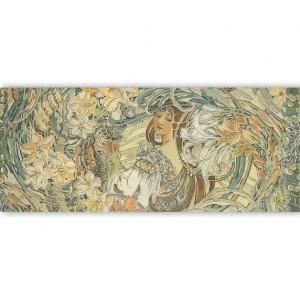 """Бумага рисовая для декупажа Stamperia DFS222LG """"Муха, Девушка и лилии"""" с золочением, 24х60 см"""