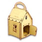 """Заготовка из дерева - конфетница-коробка """"Домик"""", фанера 3мм, 28х17,8х15 см, арт. 12437"""