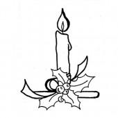 """Штампы силиконовые прозрачные CS945 """"Рождественская свеча"""" Kaisercraft, 1 шт., 6х8 см"""