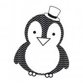 """Штампы силиконовые прозрачные CS956 """"Пингвин"""" Kaisercraft, 1 шт., 6х8 см"""