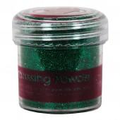 Пудра для эмбоссинга PMA4021015 зелёная с блёстками, PAPERMANIA, 28,3 гр.