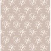 """Ткань Тильда """"Птички песочный"""", 50х55 см, 100% хлопок, арт. 480665, Tilda"""