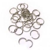 Кольца для скрапальбомов, 24 шт., цвет: серебро, металл, 25 мм, арт. CN2033-697, Craft Premier