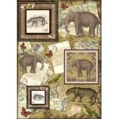 """Декупажная карта Stamperia DFG379 """"Африканские животные"""", 50х70 см"""