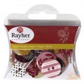 """Пуговицы Rayher декоративные из картона для скрапбукинга 144 """"Модерн"""", 7914400, 2-2,5 см, 30 шт."""