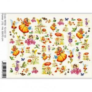 "Бумага для декупажа SOFT PAPER TO-DO 101 ""Феи и бабочки"", Cod.98704, 50х70 см"