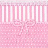 "Салфетка для декупажа ""Бантик розовый"" бумажная, 25х25 см, на фото 1/4 салфетки, арт. 12507952"