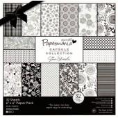 Набор бумаги для скрапбукинга Bexley Black, PMA160312, DOCRAFTS, 32 шт., 20,3х20,3 см