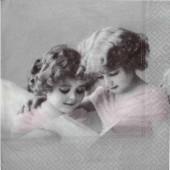 """Салфетка для декупажа """"Винтаж, Розовые Ангелы"""" бумажная, 2061, 33х33 см"""