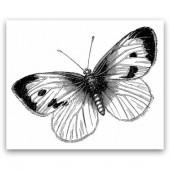 "Штамп для скрапбукинга полимерный La Blanche ""Large Butterfly"", арт. LB1270, 9,5x7,8 см"