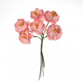 """Цветочки декоративные бумажные SCB281002 """"Цветы вишни розовые"""", 25 мм, 6 шт., ScrapBerry's"""