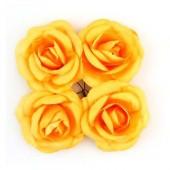 """Цветочки декоративные бумажные SCB281704 """"Розы персиково-жёлтые"""", 5 см, 4 шт., ScrapBerry's"""