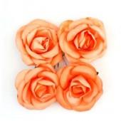 """Цветочки декоративные бумажные SCB281705 """"Розы шебби-розовые"""", 5 см, 4 шт., ScrapBerry's"""