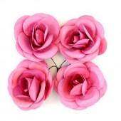 """Цветочки декоративные бумажные SCB281706 """"Розы светло-пурпурные"""", 5 см, 4 шт., ScrapBerry's"""