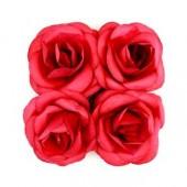 """Цветочки декоративные бумажные SCB281707 """"Розы малиновые"""", 5 см, 4 шт., ScrapBerry's"""