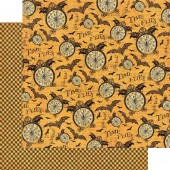 "Бумага для скрапбукинга двухсторонняя Graphic45 4500686 ""Tick-Tock"", 30х30 см"