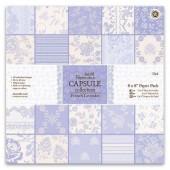 Набор бумаги для скрапбукинга French Lavender - Французская лаванда, PMA160233, DOCRAFTS, 32 шт., 20,3х20,3 см