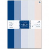 """Набор однотонной бумаги для скрапбукинга """"Парижский синий"""" PMA164111, DOCRAFTS, 50 листов А4"""