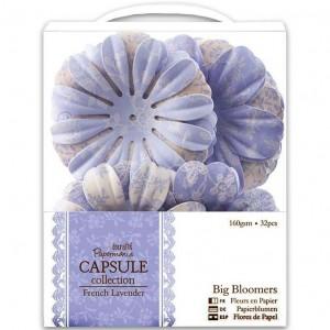 "Декоративные элементы ""Крупные цветы"" French Lavender, PMA368113, DOCRAFTS, 32 шт."