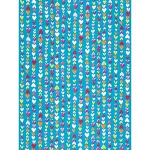 """Бумага для техники DECOPATCH 410 """"Мелкие сердечки на голубом"""", 30x40см"""