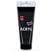 Грунт акриловый универсальный Marabu Acryl Gesso Schwarz 812 чёрный, арт. 120450808, 100 мл