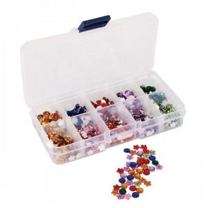 """Стразы в органайзере """"Цветы и камни"""" разноцветные, 6 мм, 750 шт., PMA351003, Do Crafts"""