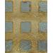 """Поталь - фольга для золочения KER05F, рисунок """"Квадраты"""", Stamperia, 14х14 см, 11 листов"""