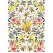 """Декупажная карта Calambour EASY 194 """"Викторианские цветы"""", 50х70 см"""
