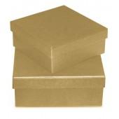 Коробка квадратная картонная - заготовка, 15,5х15,5х6 см, KC28/2SA-1, Stamperia