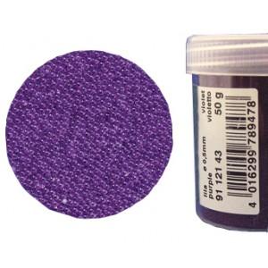 Микробисер прозрачный EFCO 9112143 стеклянный, лиловый, 0,5 мм, 50 гр.