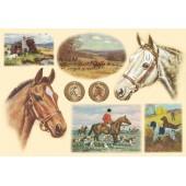 "Бумага рисовая для декупажа Stamperia DFS146 ""Лошади"", 48х33 см"