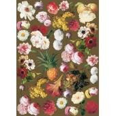 """Декупажная карта """"Цветы и ананас"""" Calambour, FIAM 07, 50х70 см, 80 г/м2"""