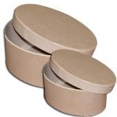 Коробка овальная - заготовки из картона, KC13/2G, Stamperia, 2 шт., 21х15,8х11 см и 17х11,6х8,4 см