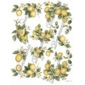 Декупажная карта Decomania 021 bis, 30х42 см, 70 г/м2, Лимоны