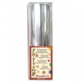 Фольга для золочения трансферная в рулоне (фойлинг) серебряная Stamperia, KEF02S, 12х200 см
