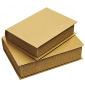 """Коробка """"Книга"""" - заготовка для декупажа из картона, KC55, Stamperia, 2 шт., 13,5х5х18,5 см и 12х4х15,5 см"""