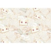 "Бумага рисовая для декупажа Stamperia DFS057 ""Старые письма"", 48х33 см"