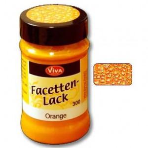 Фацетный лак Viva-Facetten-Lack, цвет 300 Оранжевый, Viva Decor, 90 мл