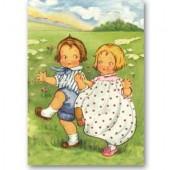 Открытка для создания объёмных композиций Танцующие дети, Stamperia, DF3D023A, 12х20 см