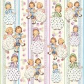 """Войлочное полотно с рисунком FLSP/ST12 """"Танцующие дети"""", Stamperia, 30х30 см, 1 мм"""