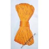 Шнур вощёный FLFCG жёлтый, 100% хлопок, Stamperia, 10 м