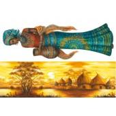 """Бумага рисовая для декупажа Stamperia DFS098 """"Африка - женщина и пейзаж"""", 48х33 см"""