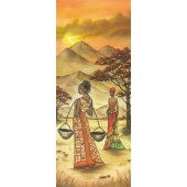 """Бумага рисовая для декупажа Stamperia DFS193L """"Африканские женщины 1"""", 24х60 см"""